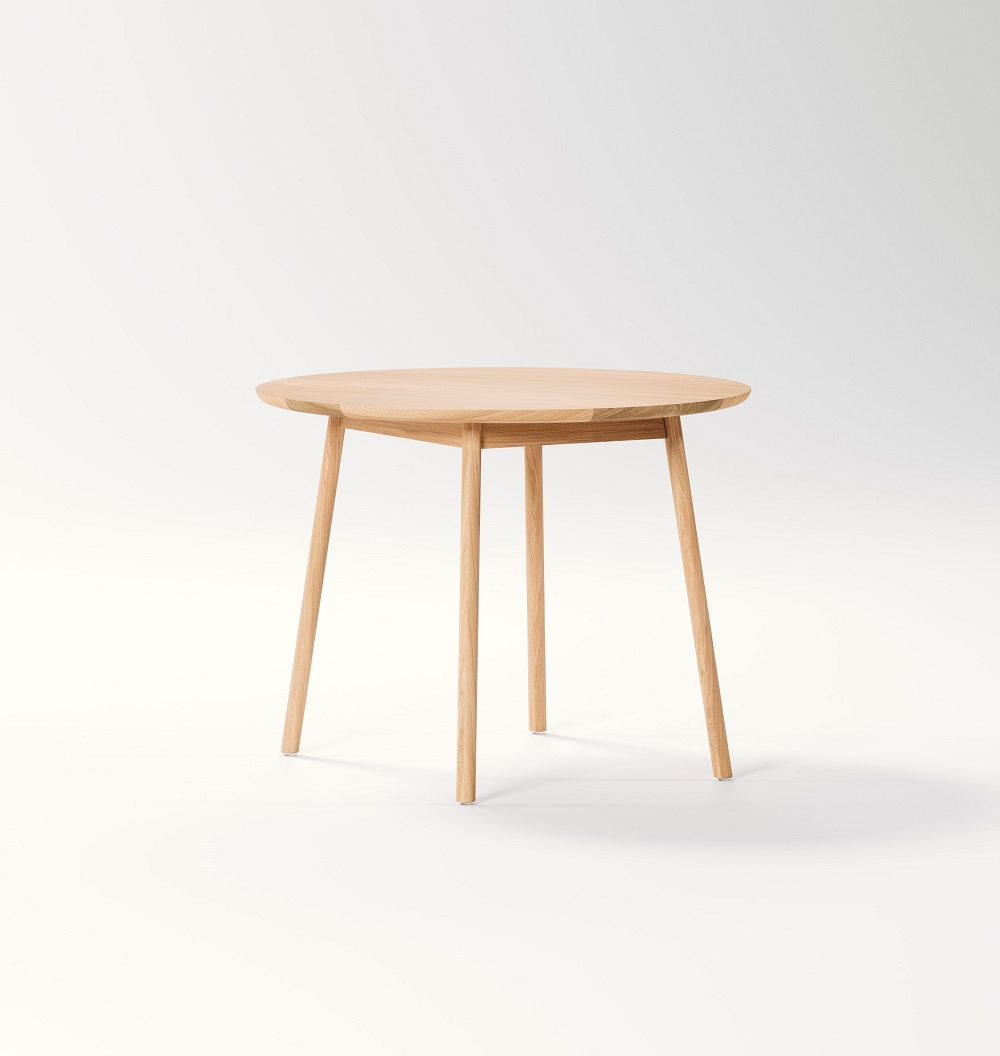 Retirement Dining Oskar Round Dining Table, side view
