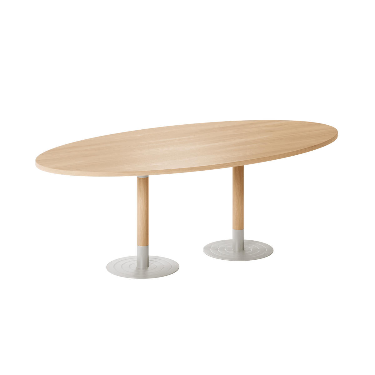 Specialised Aged Care Dining Stem Oval Table - Twin Pedestal