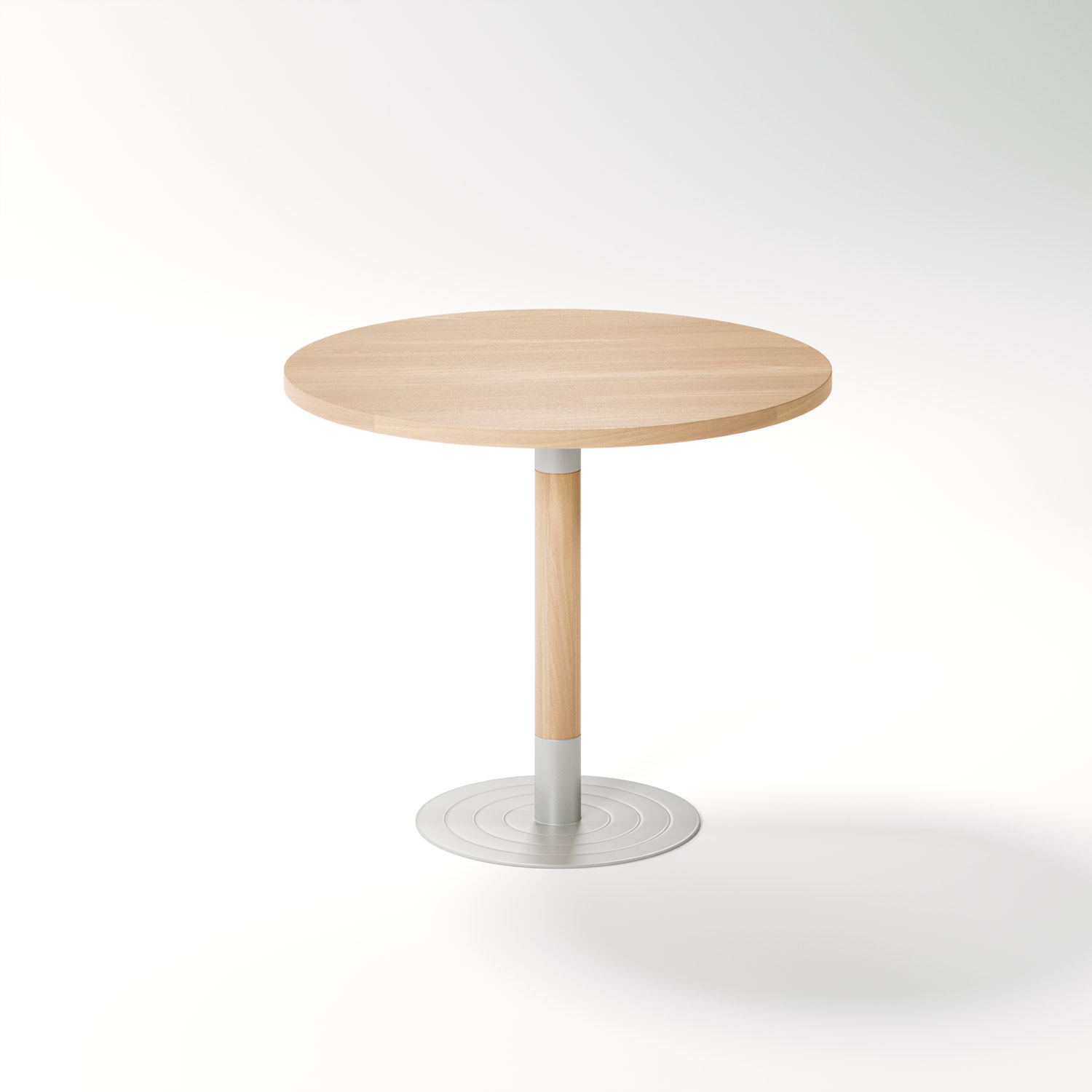 Aged Care Dining Stem Round Pedestal Table, side view