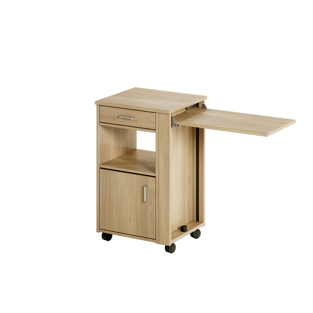 Aged Care Bedroom Ruben Bedside Cabinet with Overbed Table