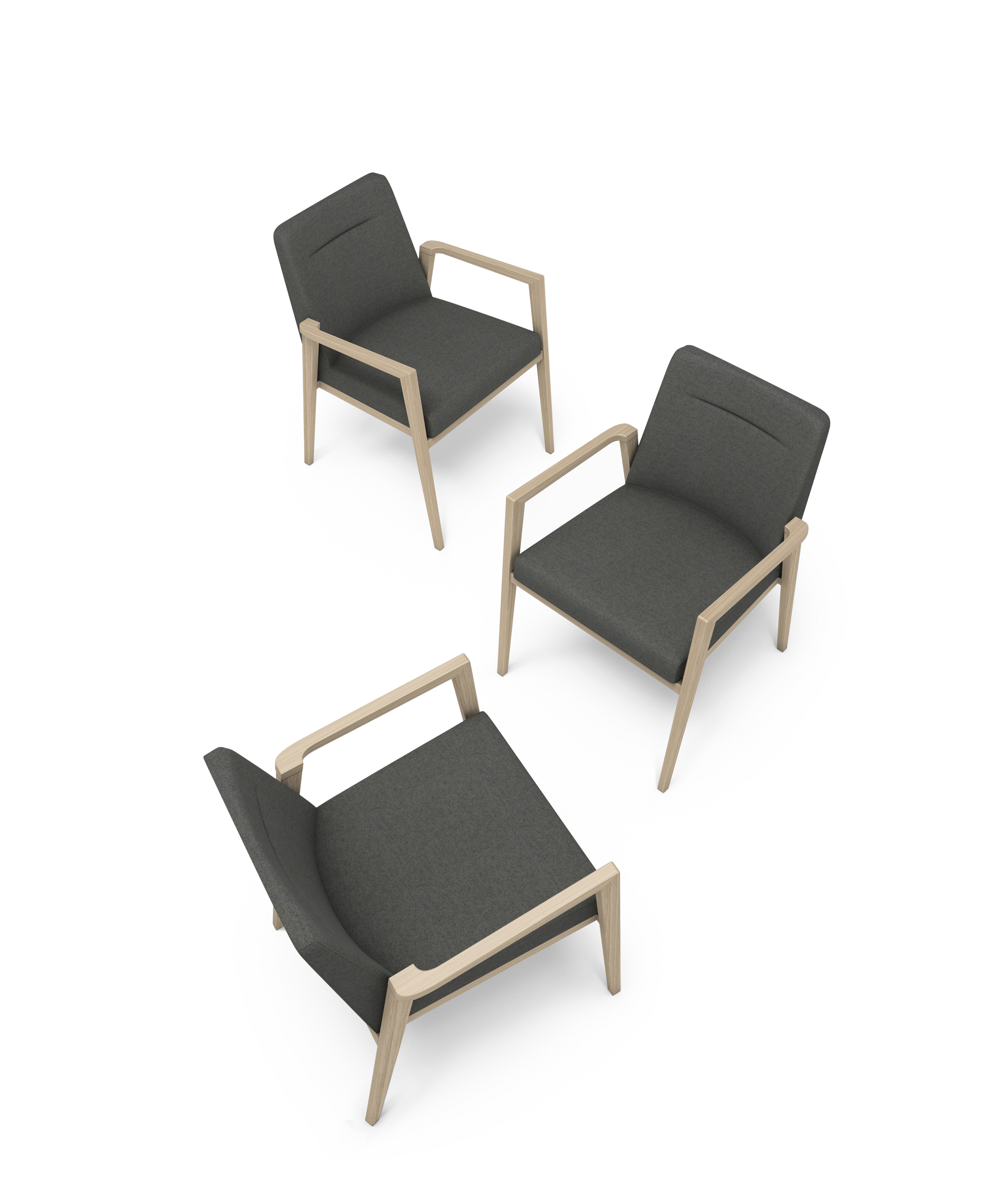 Retirement Dining Debby Arm Chair, top view