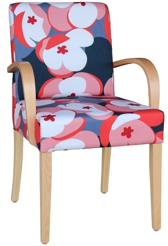 Dining and Occasional Davina Wooden arm Chair Floral Fabric