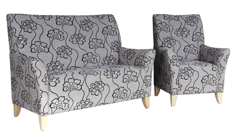 Lounge Aged Care Accent Chair 2 seater and Chair setting