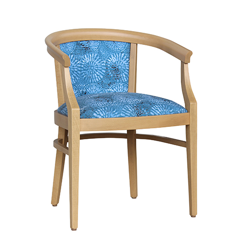 Aged Care Dining Rebecca Chair, natural, angle view