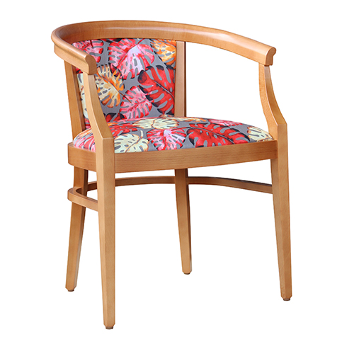 Aged Care Dining Rebecca Chair, natural, side view