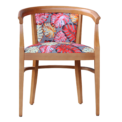 Aged Care Dining Rebecca Chair, honeyglow, front view