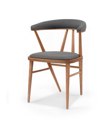 Hospitality Dining Betty chair with upholstered back