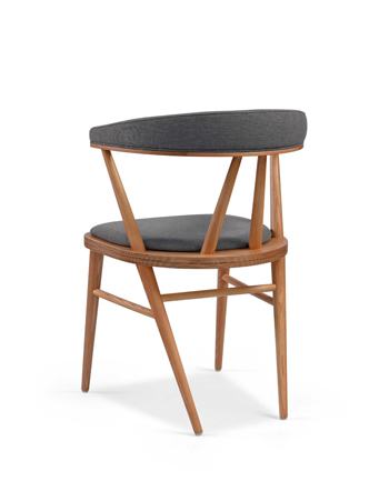 Hospitality Dining Betty chair with upholstered back, back view