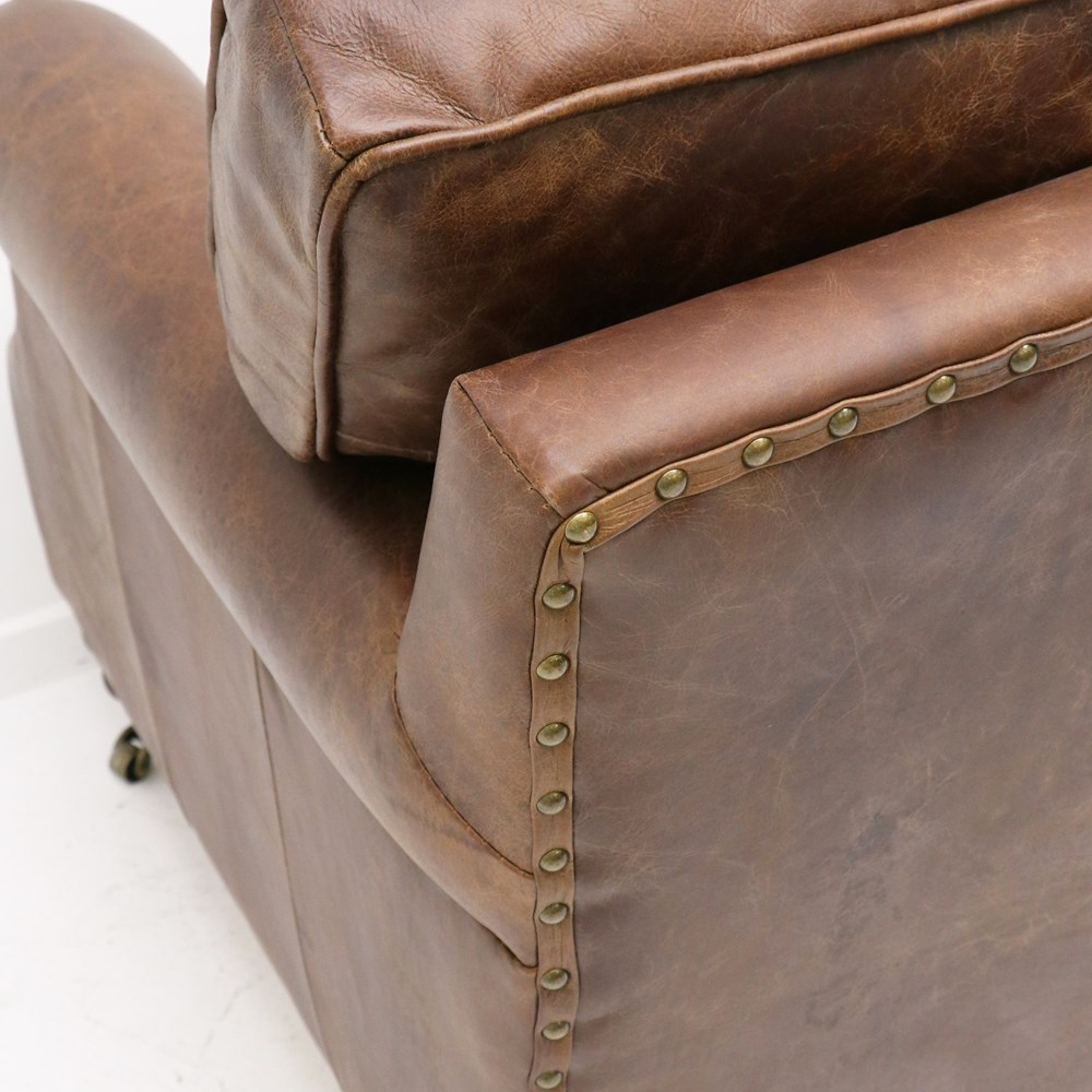 Hospitality Soft Seating Kingston Armchair, aged brown, closeup