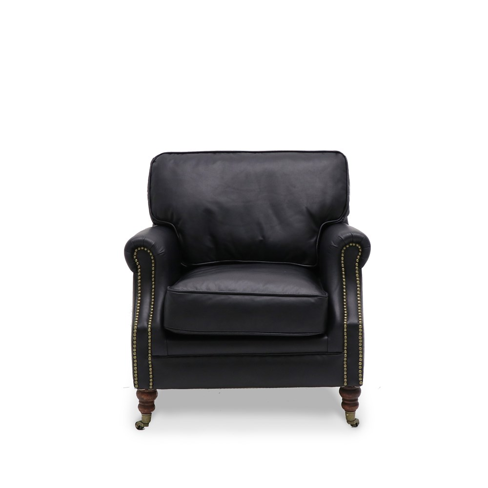 Hospitality Soft Seating Kingston Armchair, black, front view