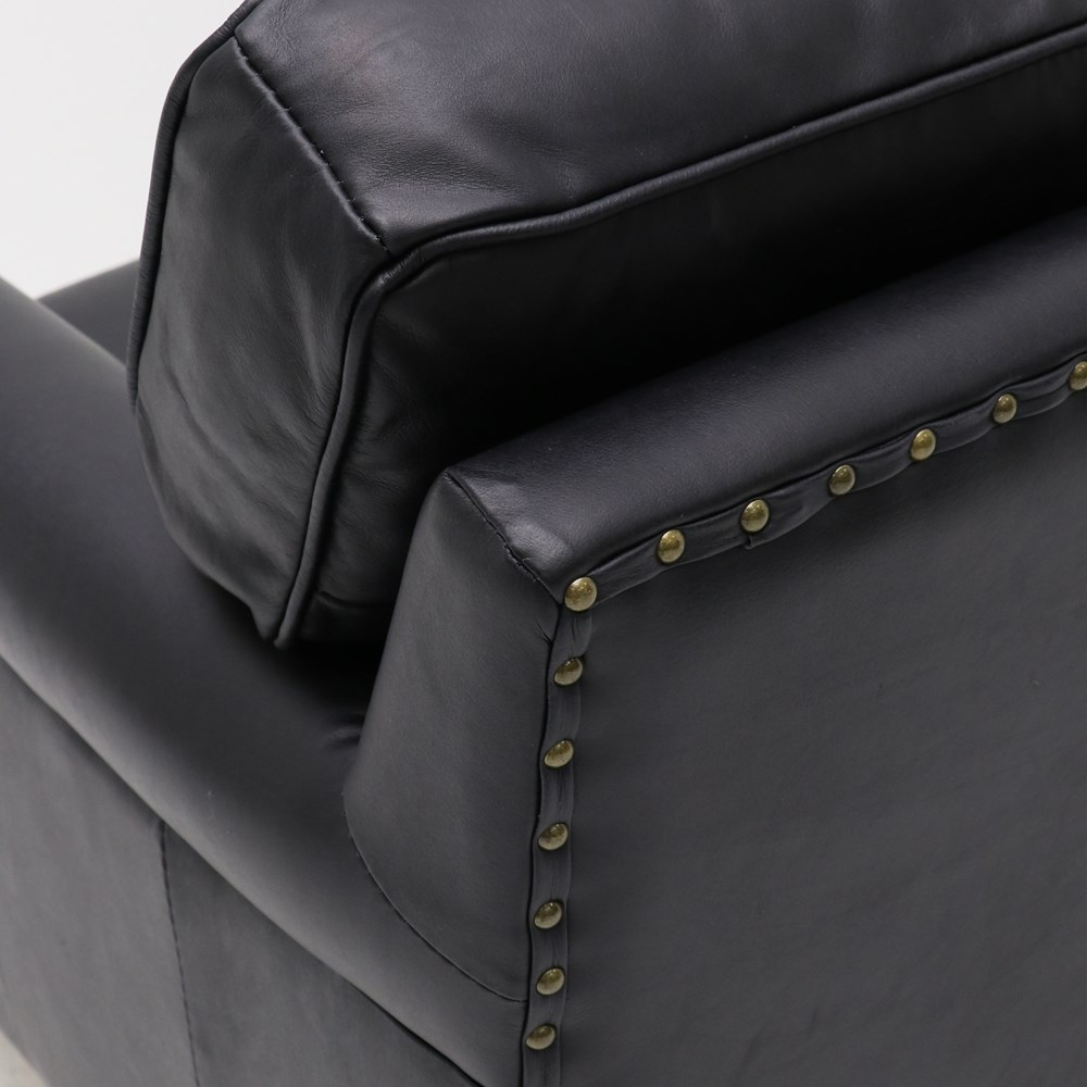 Hospitality Soft Seating Kingston Armchair, black, closeup