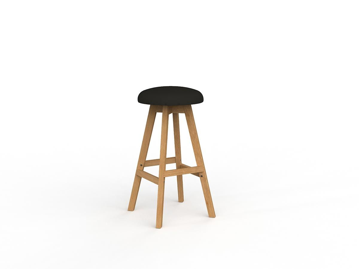 Hospitality Seating Luna Button Barstool, side view