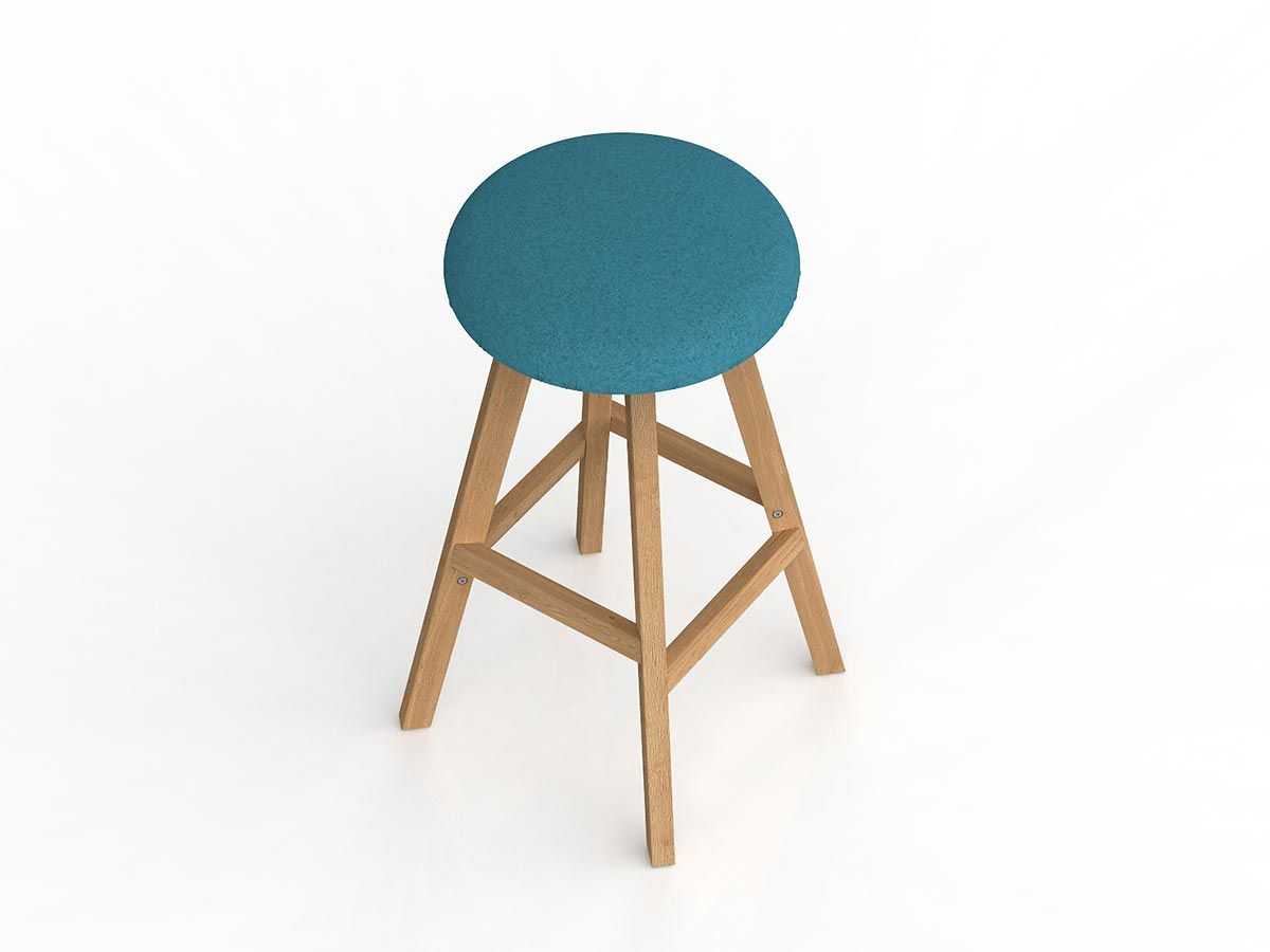 Hospitality Seating Luna Button Barstool, front view