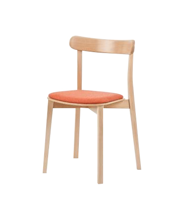 Hospitality Dining Icho Chair - Stackable - upholstered seat