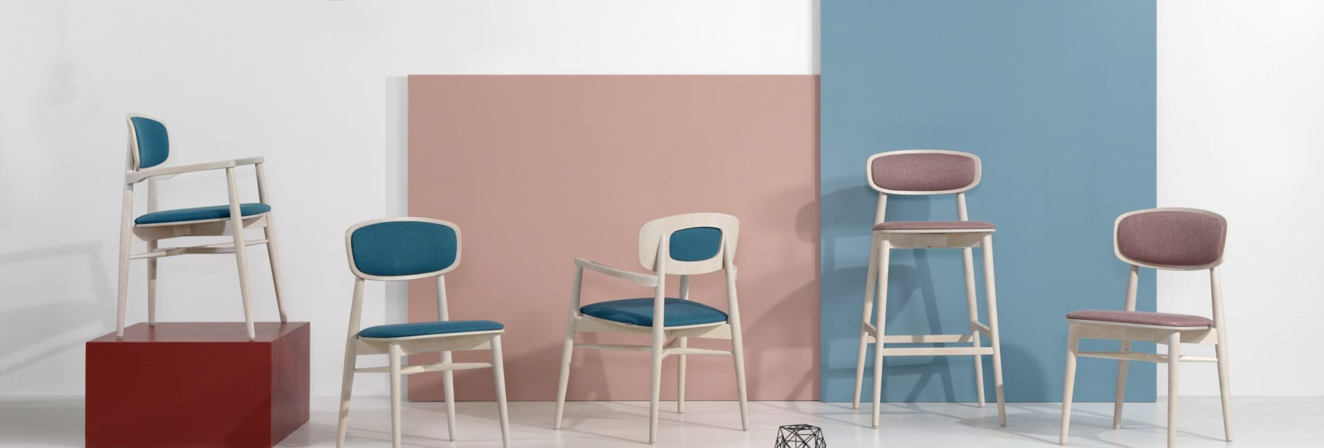 Hospitality Dining Dona Side Chair, in setting image