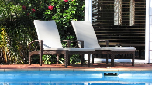 Hospitality Outdoor Dallas Sunlounger, scene image