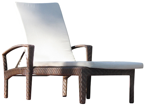 Hospitality Outdoor Dallas Sunlounger, coffee mix colour