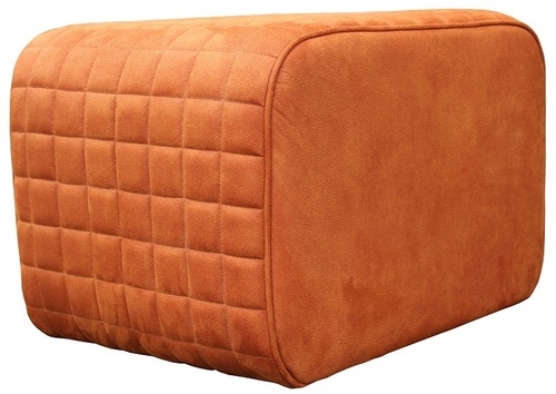 Hospitality Occasional Puff Square Ottoman, side view
