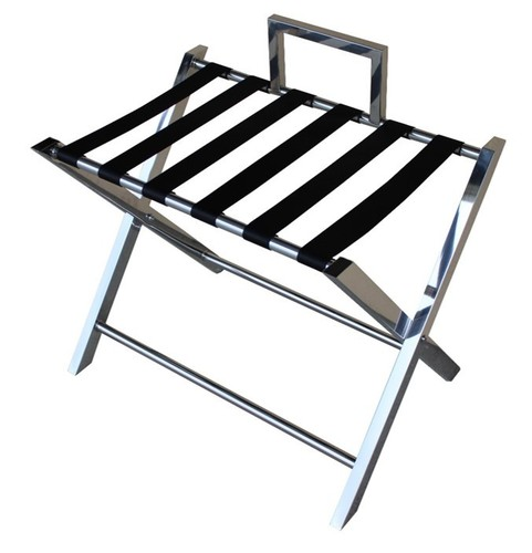 Hospitality Wanaka Folding Luggage Rack Stainless steel, side view