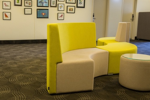 Hospitality Seating Landon Booth - Concave in hotel setting