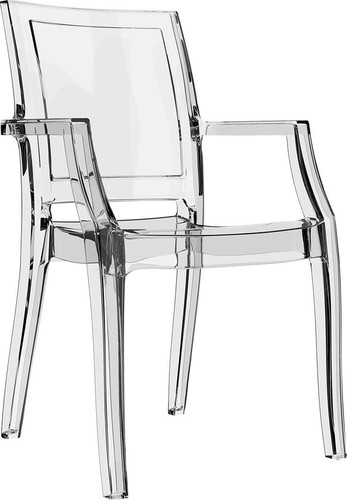 Dining Hospitality Arthur Armchair, Clear Transparent