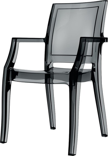 Dining Hospitality Arthur Armchair, Black Transparent