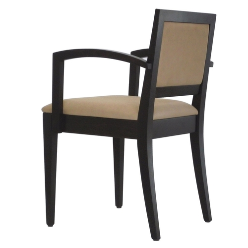 Hospitality Dining Tempo Arm Chair Angled view