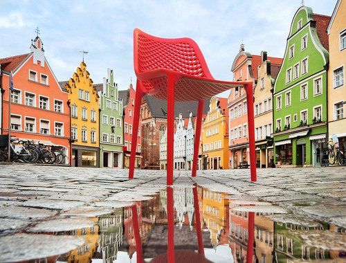 Hospitality Outdoor Air Chair Red Outdoor Setting