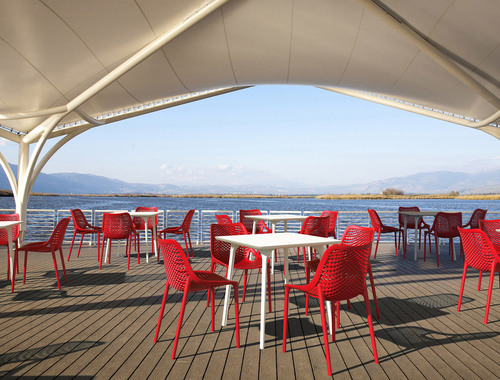 Hospitality Outdoor Air hair Red Outdoor Setting