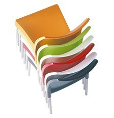 Hospitality Outdoor Vita Chair Stack