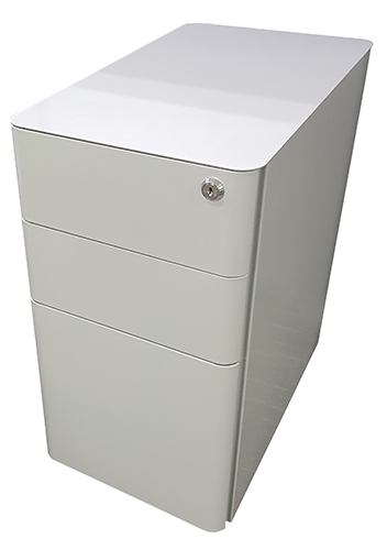 Office Hospitality Mini Mobile White, top view
