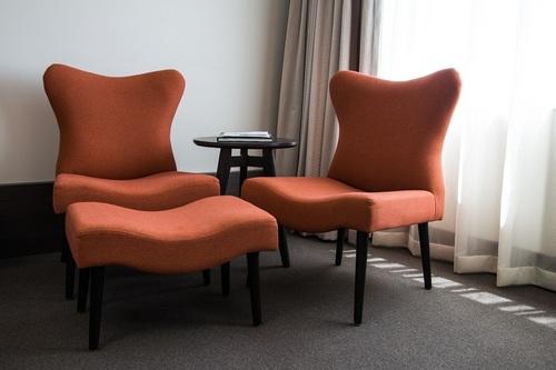 Hospitality Room Furniture Mara Footstool setting image