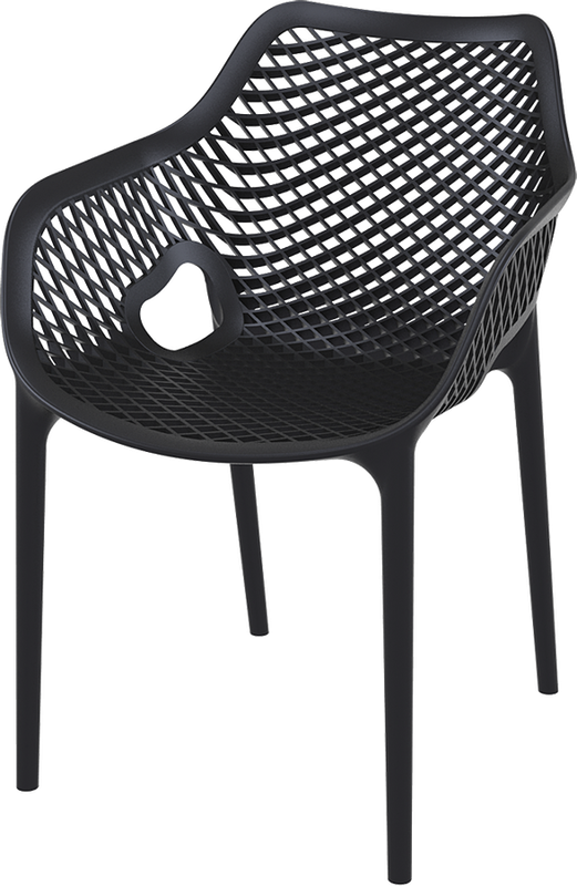 Hospitality Outdoor Air XL Chair black, side view