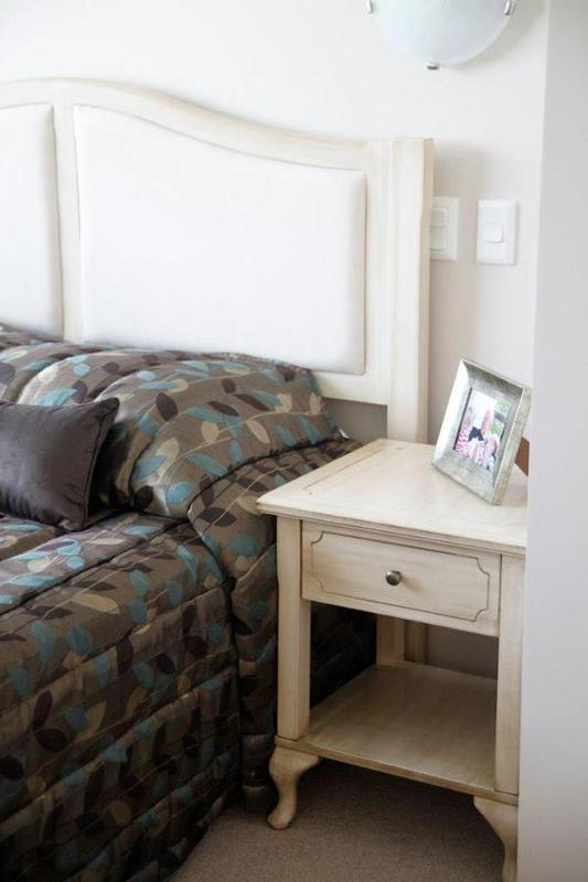 Hospitality room furniture Marseille 1 drawer bedside, in bedroom setting