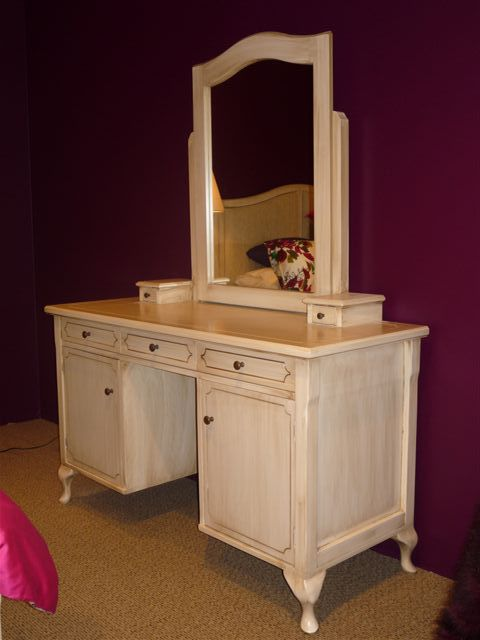 Hospitality Room Furniture Marseille 7 Pinhole Dressing Table w mirror, in hotel room setting