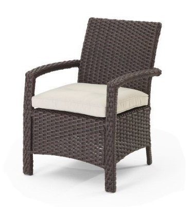 Hospitality Dining Aurora Armchair, side view