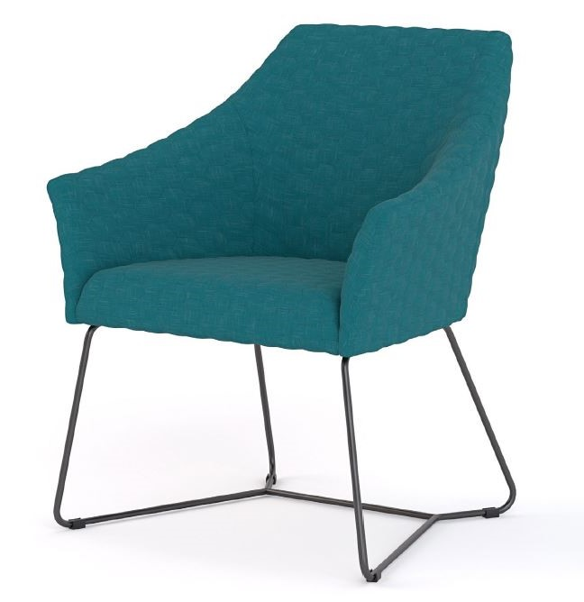 Healthcare Soft Seating Echo Visitor Chair, sled base