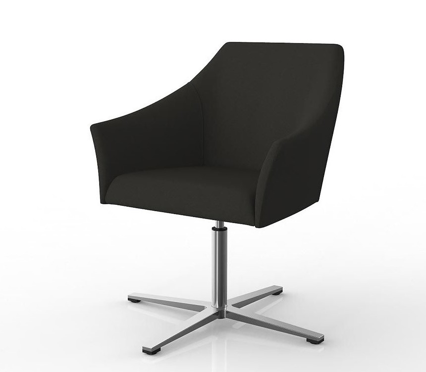 Healthcare Soft Seating Echo Visitor Chair, swivel base