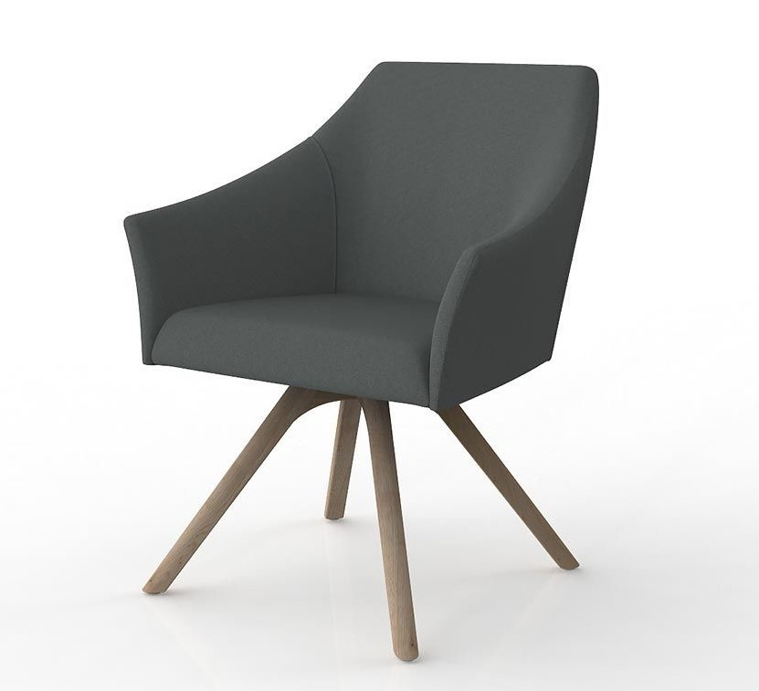 Healthcare Soft Seating Echo Visitor Chair, timber base
