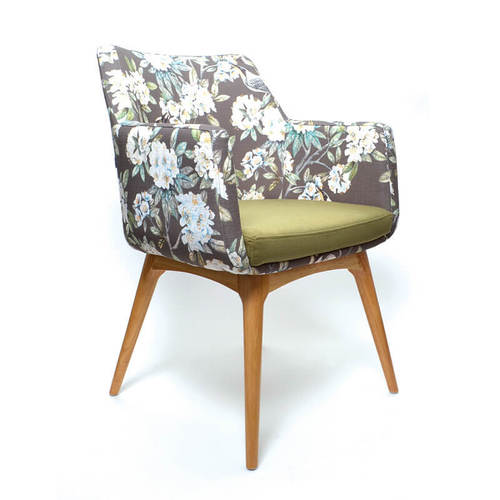 Soft Seating Medical Hady Chair - Wooden Base, side view