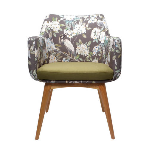 Soft Seating Medical Hady Chair - Wooden Base, front view
