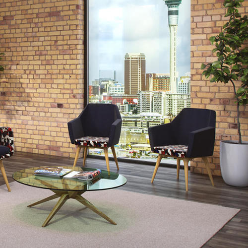 Soft Seating Medical Hady Chair - Wooden Base in reception area
