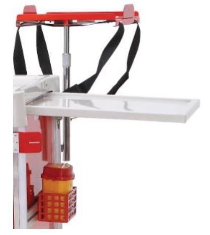 Hospital & Medical Medi-Cart Emergency Trolley, drug collection tray