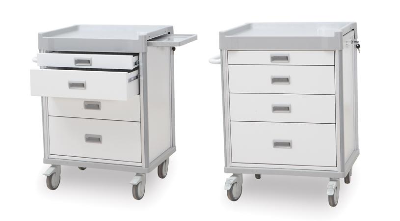 Equipment Medical AM-728P Medi-Cart Dressing Trolley, side view