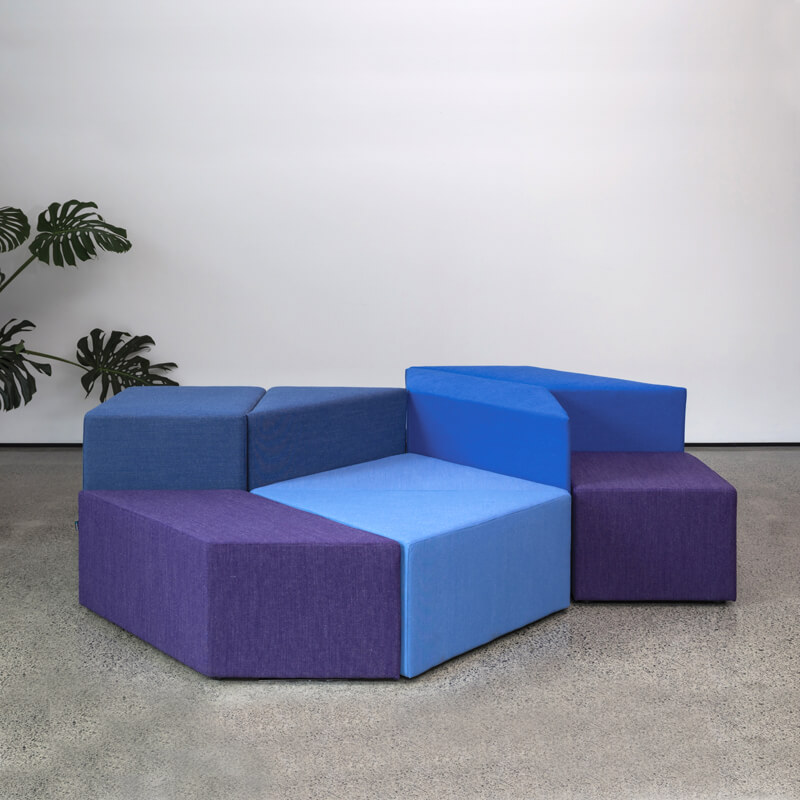 Collaborative Seating Medical Eightby4 Ottomans, config 3