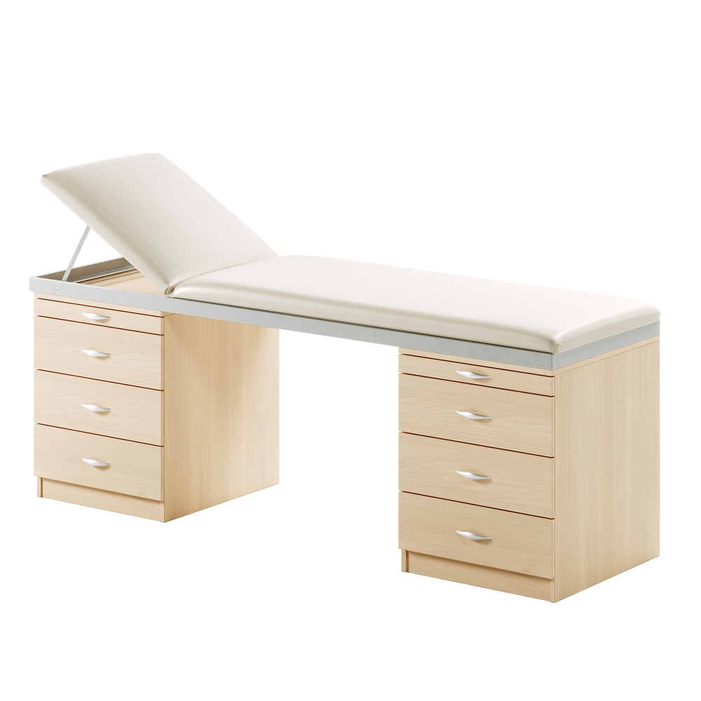 Healthcare Treatment ACM3 Medistar Plinth Fixed Height Treatment Table, with headend up
